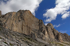 The vertical wall of Roda di Vael Stock Image