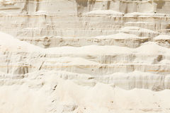 Vertical wall of sand in sand pit Royalty Free Stock Image