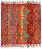 Vertical weave tapestry with gunge striped wavy colorful pattern Stock Images
