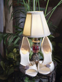 Vertical: Wedding Shoes, Lamp & Plants Stock Images