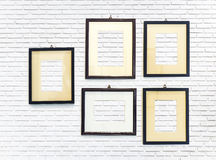 The vertical white brick wall Stock Photos