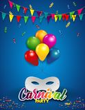 Vertical White Mask With Balloons Stock Image