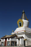 Vertical white stupa in Erdene Zuu Monastery Royalty Free Stock Photo