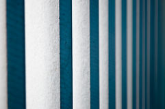 Vertical white wooden blinds Stock Photography