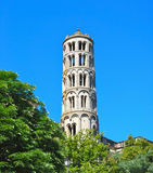 Tower in Uzes France Royalty Free Stock Image