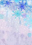 Vertical winter snowstorm background Royalty Free Stock Images