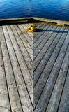 Vertical wooden deck composition royalty free stock photography