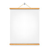 Vertical wooden placard Royalty Free Stock Photos
