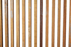 Vertical wooden sticks isolate on white background Royalty Free Stock Images