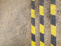 Vertical yellow and black warning lines Royalty Free Stock Photography