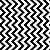 Vertical zigzag chevron seamless pattern background in black and white. Retro vintage vector design Royalty Free Stock Photography
