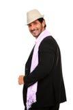 Verticale élégante d'homme utilisant un chapeau Image stock