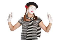 Verticale émotive de pantomime photo stock