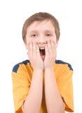 Verticale étonnée de garçon photo libre de droits