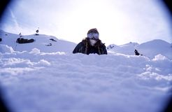 Verticale 2 de Snowboarder photos stock