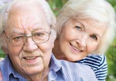 Verticale aînée de couples Photos libres de droits