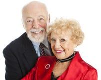 Verticale aînée de plan rapproché de couples Images libres de droits