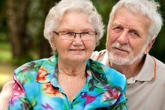 Verticale aînée heureuse de couples Photos libres de droits