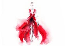 Verticale abstraite de femme Fond de mode Photographie stock