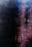Verticale aerograph roze purpere techno doorweven kaart Stock Afbeeldingen