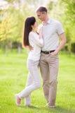 Verticale affectueuse de couples Image libre de droits