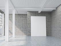 Verticale affiche in zolder met pijlers vector illustratie