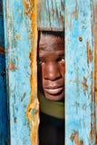 Verticale africaine d'enfant Image libre de droits