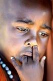 Verticale africaine d'enfant Images libres de droits