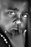 Verticale africaine d'enfant Photo libre de droits
