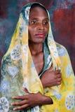 Verticale africaine de femme Images libres de droits