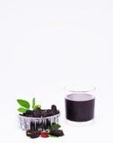 Verticale antioxydante de fruit de mûre Photographie stock libre de droits