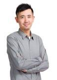 Verticale asiatique d'homme Photos libres de droits