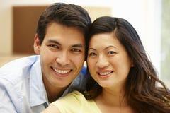 Verticale asiatique de couples Photos libres de droits