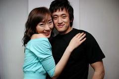 Verticale asiatique de couples Images libres de droits