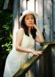 Verticale asiatique de dame Images libres de droits