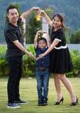Verticale asiatique de famille Images libres de droits