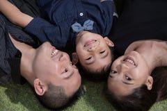 Verticale asiatique de famille Photos stock