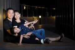 Verticale asiatique de famille image libre de droits