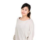 Verticale asiatique de femme photo libre de droits