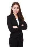Verticale asiatique de femme d'affaires Images libres de droits