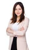 Verticale asiatique de femme d'affaires Photo libre de droits