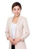 Verticale asiatique de femme d'affaires photos stock