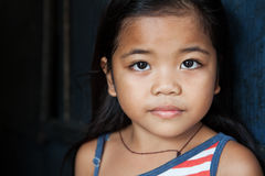 Verticale asiatique de fille Image libre de droits