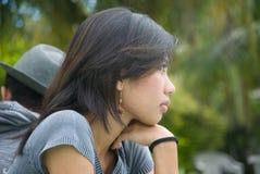 Verticale asiatique de fille Images libres de droits