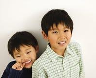 Verticale asiatique de garçons Image libre de droits
