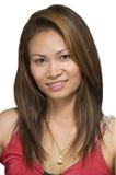 Verticale asiatique femelle Photos libres de droits