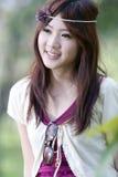Verticale asiatique mignonne de fille Images stock