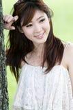 Verticale asiatique mignonne de fille Photographie stock libre de droits