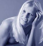 Verticale assez blonde Photos libres de droits