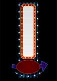 verticale au néon Image stock